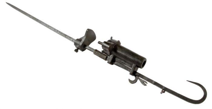 A Philadelphia Antique Curiosity Gun , Sword, and Cane Curiosa  Collection Estate Auction  - trap.jpg